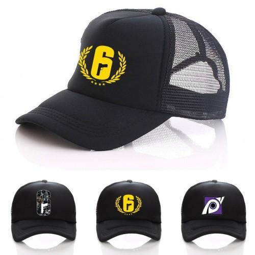 Rainbow Six Siege Cosplay Mesh CAP Toptee Black Hat women men Cap Summer Mesh Net Trucker Caps Snapback Hat