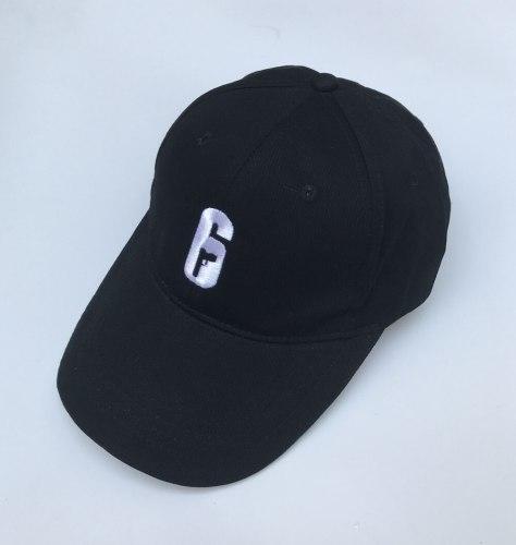 Rainbow Six Siege 6 Logo Embroidery Baseball Cap Cosplay Black Adjustable Hat