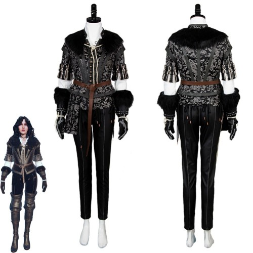 The Witcher 3 Cosplay Costume Yennefer Wild Hunt Cosplay Costume Outfit Dress Suit Uniform