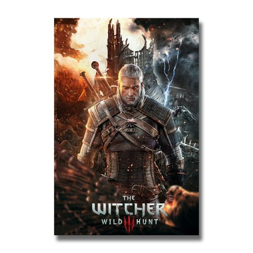 The Witcher 3 Wild Hunt Silk Posters Game Prints Wall Art Painting 12x18 24x36 inch Decoration Pictures Living Room Decor 006
