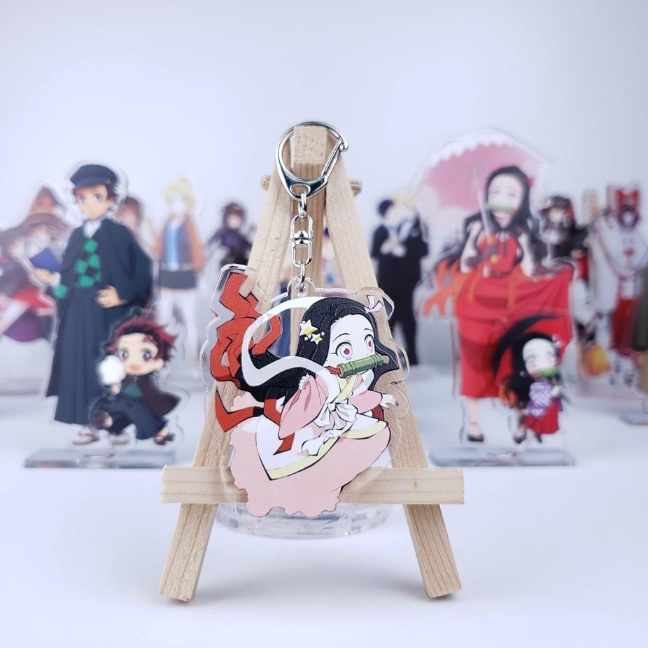 Anime Demon Slayer Kimetsu no Yaiba Acrylic Keychain Keyrings Nezuko Pendants