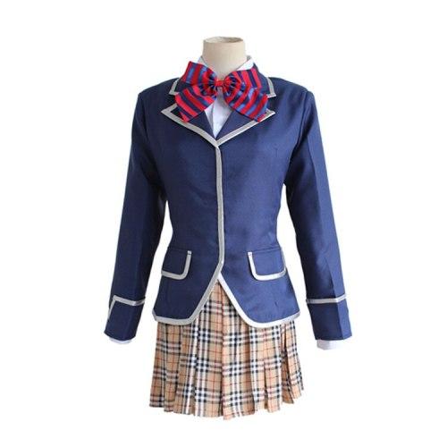 Anime Shokugeki no Soma Nakiri erina Cosplay Costume School Uniform (Blazer + Skirt + Tie)