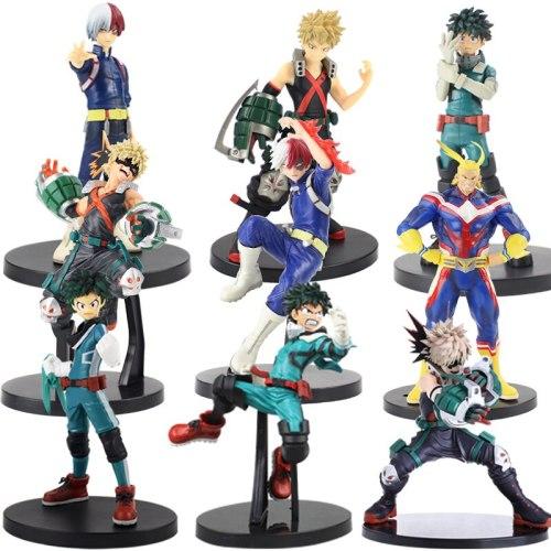 Anime My Hero Academia Figure Doll Bakugou Katsuki Midoriya Izuku Todoroki Shoto boku no hero academia figure PVC toys 16cm