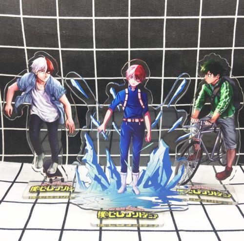My Hero Academia Midoriya Todoroki Bakugou Acrylic Stand Figure Desktop Decoration Collection Model Toy Cosplay Doll