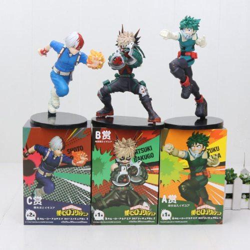 Japan Anime My Hero Academia Ground Zero Bakugou Katsuki Midoriya Izuku Todoroki Shoto PVC action figure toys 16cm