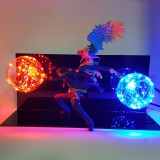 One Piece Marco Ace Action Figure Led Table Lamp Model Toy One Piece Anime Marco Ace Team Cooperation DIY Set Toys For Boys