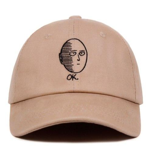 ONE PUNCH-MAN Dad Hat 100% Cotton Saitama baseball cap Anime fan embroidery funny Hats for Women Men ok Man One Punch Man