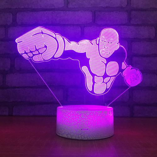 One Punch Man 3D LED RGB Night Light 7 Color Change Desk Light Action Figures 061 Boys Girls Christmas Toys