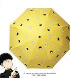 ONE PUNCH-MAN Saitama Shigeo Kageyama Cosplay Folding Sun Rain Umbrella Men Women Anti-UV Travel Gift
