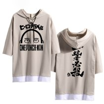 2019 Fashion T-shirt Anime ONE PUNCH-MAN Cosplay Half sleeve Hoodie Women Men Casual Splice Hooded Shirt Summer Loose Tops