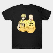 ONE PUNCH-MAN One Punch Man Saitama & Genos Sweatshirt Hoodie Oppai Unisex and Womens Fitted New  Unisex Funny T-shirts