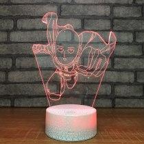 One Punch Man LED Night Light 7 Color Change Desk Light Action Figures Boys Girls Birthday Toys