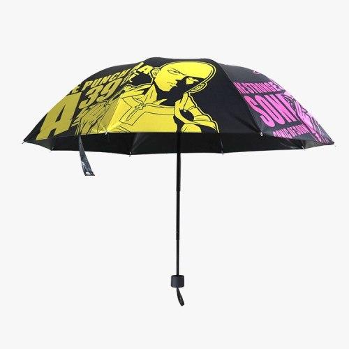 Anime Manga ONE PUNCH MAN Kids Folding Rain Umbrella Children 001