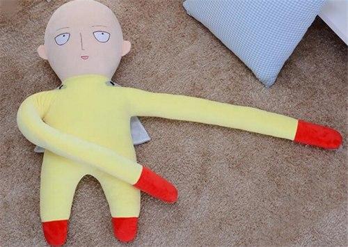 1pcs Hot Japanese ONE PUNCH Man Cartoon Saitama Plush Stuffed Dolls Toys Cosplay Props Cushion for Girls New Year Anime Gifts