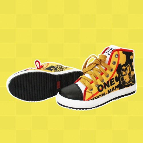 2019 Anime One Punch Man No-Slip Canvas Shoes Men Hip hop Street Dancing Sneakers Oppai board shoes A51602