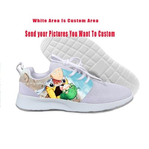 2019 Hot Now One Punch Man Saitama Sensei Japan Anime Euro Shoes Lightweight-Breathable Custom DIY Sports Shoes Leisure Shoes