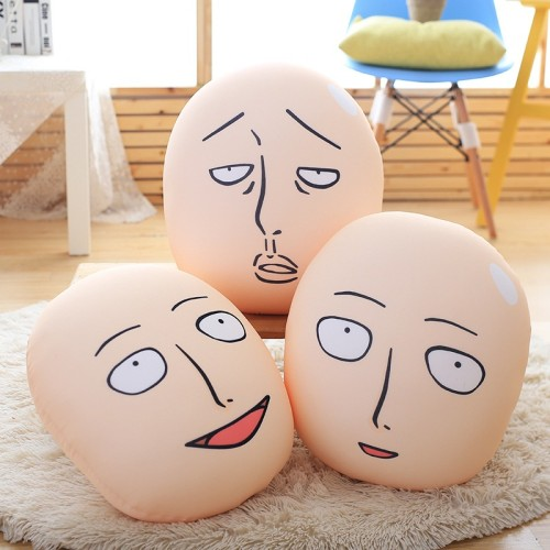 Creative Cartoon One Punch man Pillow Stuffed Short Plush Office Travel Rest Soft Doll Baby Kids Toys Cushions Home Decor Gift