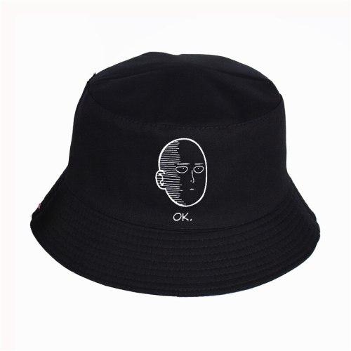 One Punch Man Printed Bucket Hats Summer pop harajuku Women Men fisherman hat Outdoor sunshade cap fishing hat