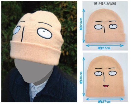 New arrival One punch man Saitama shaven head Style Winter Warm Wool Unisex Limited Cap Hat