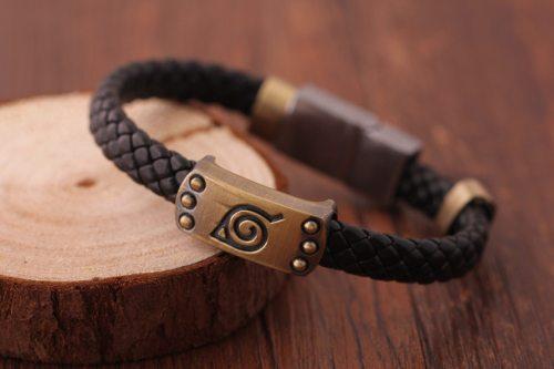 Anime Naruto Knit Bracelet Cosplay Costumes Accessories Props Black Punk Fashion Bracelets