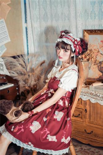 2019 Hot Sale Original design spot Japan new Lolita lovely print music radio 8029 dress