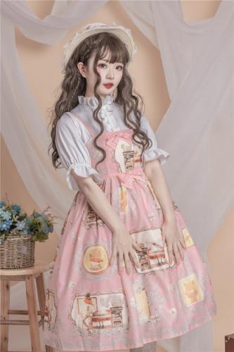 Lolita 2019 Pure feeling girl wind Fox's love letter JSK skirt cute print  fresh dress