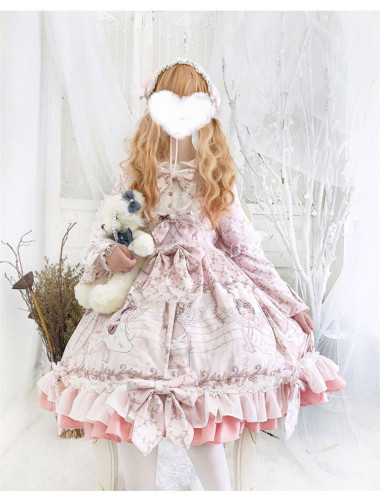 Eros OP lace bow lolita fresh and sweet lolita dress