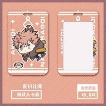 Anime ID:INVADED Akito Narihisago Brilliant Detective Sakaido Koharu Cosplay Cartoon Acrylic Figure Keychain Card Case Badge
