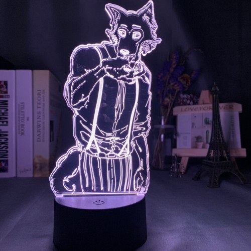 Acrylic 3d Lamp Legosi Figure for Home Room Decoration Nightlight Cool Anime Gift USB Desk Led Night Light Beastars Dropshipping