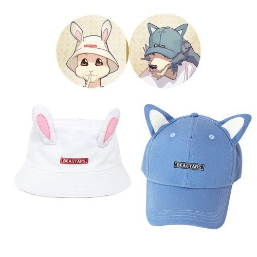 BEASTARS Cosplay Anime Hat Legosi Haru Louis Funny Hat 3D Wolf  Rabbit Ear Deer Horn Hats Cap Baseball Fisherman Hat Party Props