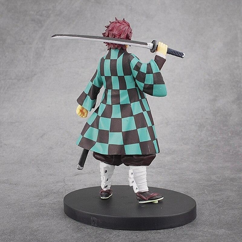 16cm Demon Slayer Anime Figure Tanjirou Nezuko Inosuke Giyuu Figurine Kimetsu
