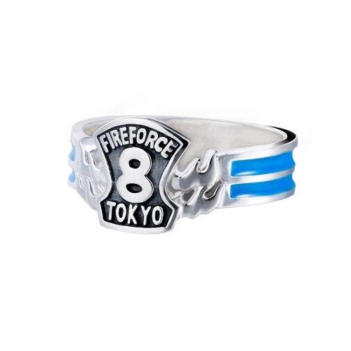Anime Ring Enn Enn No Shouboutai Fire Force Shinra Kusakabe 925 Sterling Silver Finger Ring Adjustable Jewelry Cosplay Xmas Gift