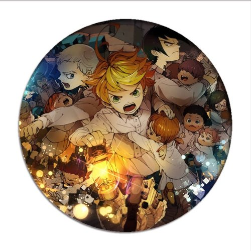 Hot Anime The Promised Neverland Emma Cosplay Badges Norman Brooch Pins Icon Ray Collection Breastpin for Bag Clothes
