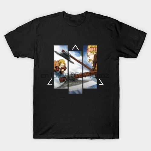 Men t-shirt Thorfinn v Thorkell   Vinland saga T Shirt tshirt Women t shirt