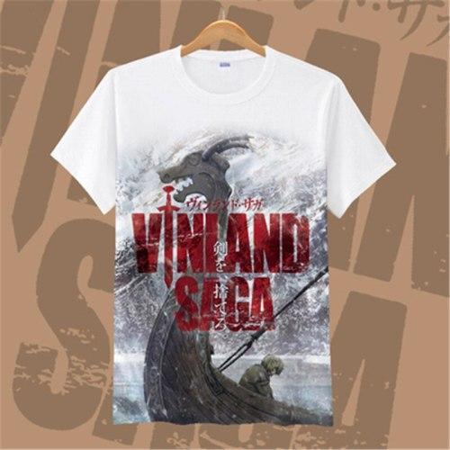 New Anime VINLAND SAGA T Shirt VINLAND SAGA Thorfinn cosplay T-shirt Askeladd the Vikings fighter Thorfinn T-Shirt fashion tee