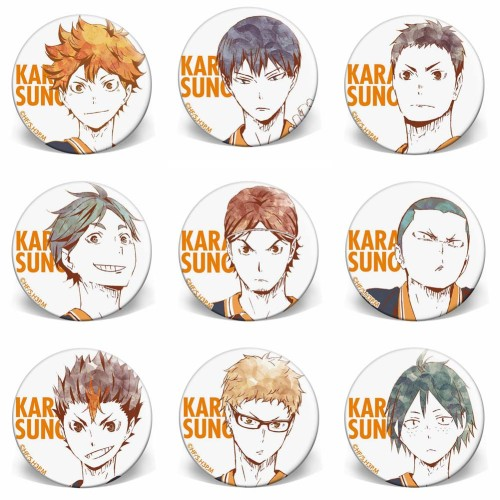 Anime Haikyuu!! Brooches Button Badges Pins for Clothes Backpack Pencil Case