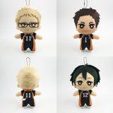 16cm Haikyuu! Anime Plush Toy Stuffed Toy Tsukishima Kei Yamaguchi Tadashi Sawamura Daichi Anime Toys Gift Doll