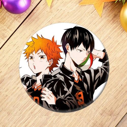 Anime Haikyuu!! Brooch Badge Bag Pendant Accessory For Gift