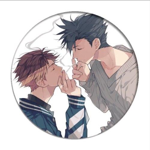 1pcs Manga Haikyuu!! Cosplay Badges Hinata Shoyo Brooch Pins 58mm Japan Anime Collection Badge for Backpacks Clothes