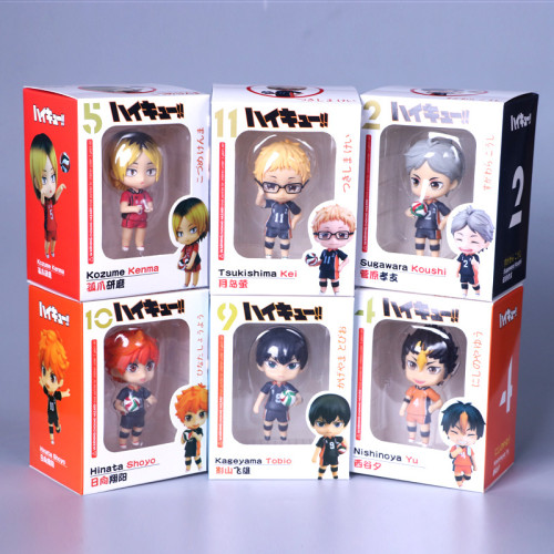 6pcs/set Anime Haikyuu Volleyball Hinata Syouyou kageyama tobio Figure PVC 10CM Japanese Figures Model Toys Birthday Gifts