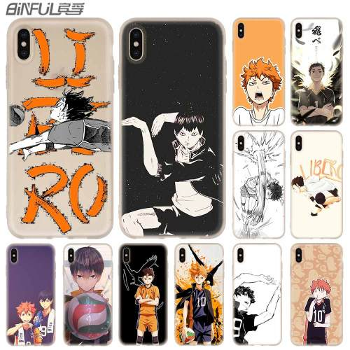 Haikyuu Anime Fundas Cover Case Silicone soft for iPhone X 11 Pro XS Max XR 6 7 8 Plus 5 4 S Phone Cases TeleFoonhoesjes Etui