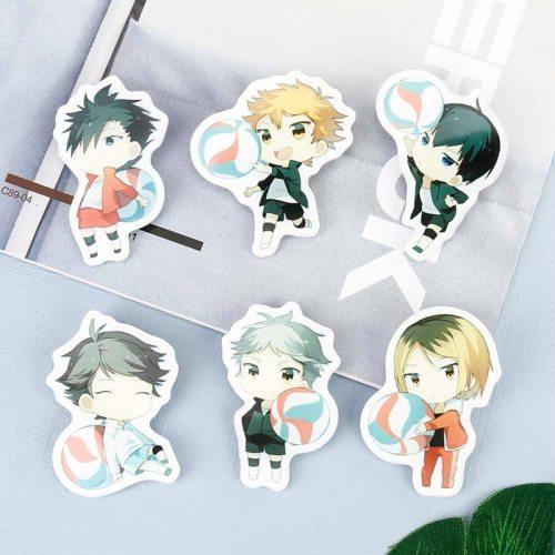 Manga Haikyuu!! Cosplay Badges Hinata Shoyo Brooch Pins 58mm Japan Anime Collection Badge for Backpacks Clothes