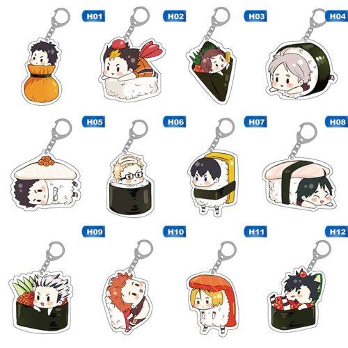 Cute Cartoon Keychain Volleyball boy Key Chain Ring Anime Haikyuu!! Keyring Hot Sales
