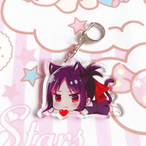 5 Types Anime Kaguya-sama: Love Is War Keychain Fujiwara Chika Shinomiya Kaguya Keychain Doubleside Pendant Keyring
