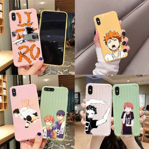 Haikyuu Anime Fundas Trolley Suitcase Texture Phone Case for iPhone 11 Pro Max X XS MAX 8 7 6S Plus