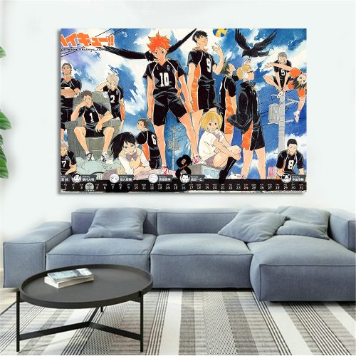 Prints Modular Picture Wall Art Poster Animation Film And Television Haikyuu Nordic Style Canvas Painting For Bedroom Home Decor