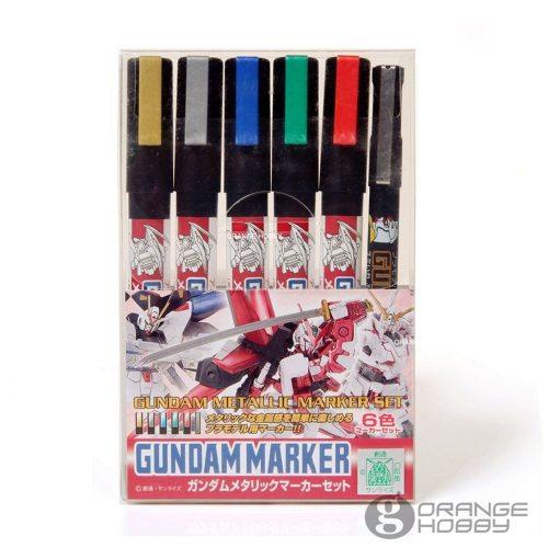 Mr.Hobby GSI MrHobby GMS121 Gundam Metallic Marker Set for Hobby Model Paint Modeling