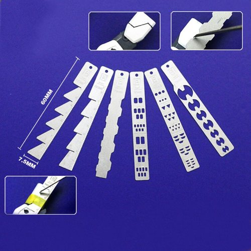 For Model Making Tools Gundam Military Model Detail Transformation Stainless Steel Angle Gauge and Scriber