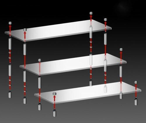 Anime Cosplay Model Acrylic Display Stand figure, gundam,bearbrick Ladder Steps Cosplay Christmas Gift Toy Display Stand