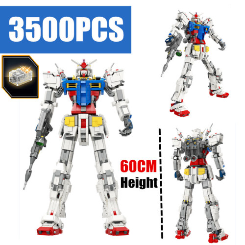 3500PCS Gundam RX78-2 MOC Super Robot lepinly Technic Transformation model Building Blocks Bricks Toy for Boy christmas Gift